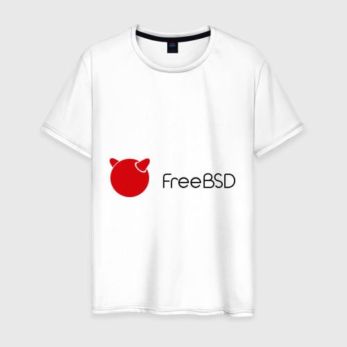 Мужская футболка хлопок Free BSD