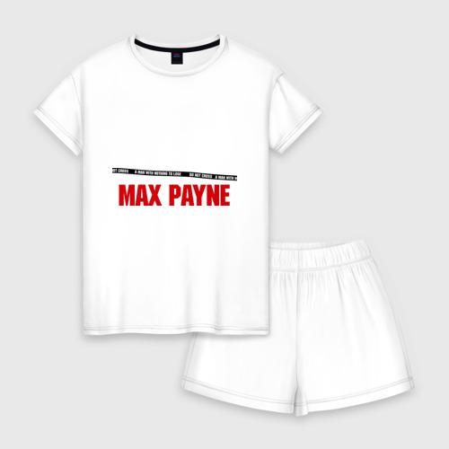 Женская пижама с шортиками хлопок Max Payne