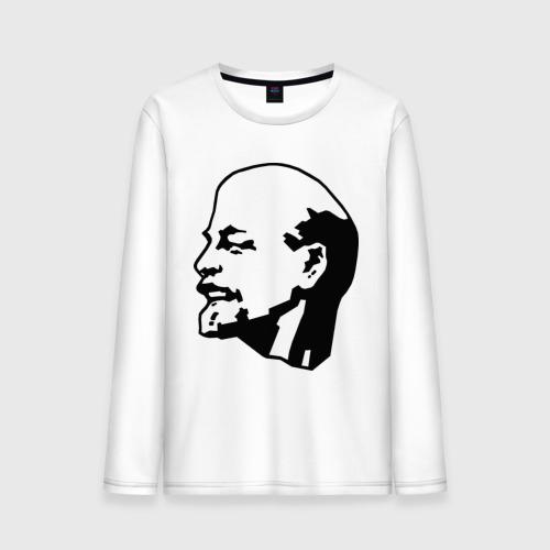 Мужской лонгслив хлопок Ленин