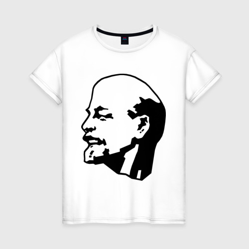 Женская футболка хлопок Ленин