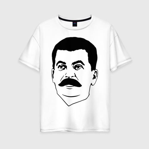 Женская футболка хлопок Oversize Сталин