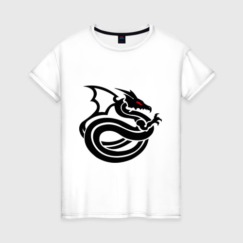 Женская футболка хлопок Змеедракон