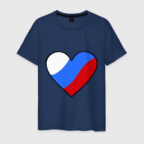 Мужская футболка хлопок Российское сердце