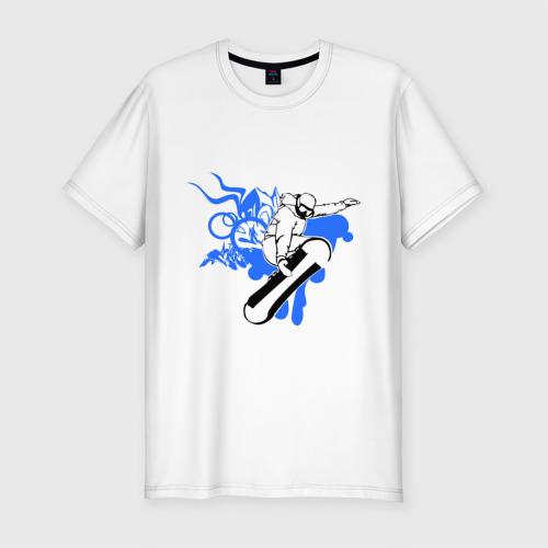 Мужская футболка хлопок Slim Сноуборд