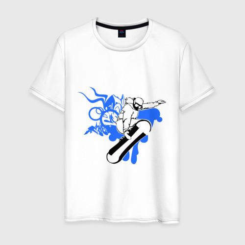 Мужская футболка хлопок Сноуборд