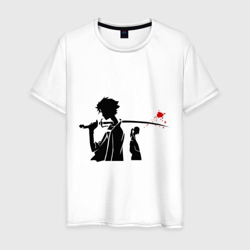 Мужская футболка хлопок Samurai Champloo