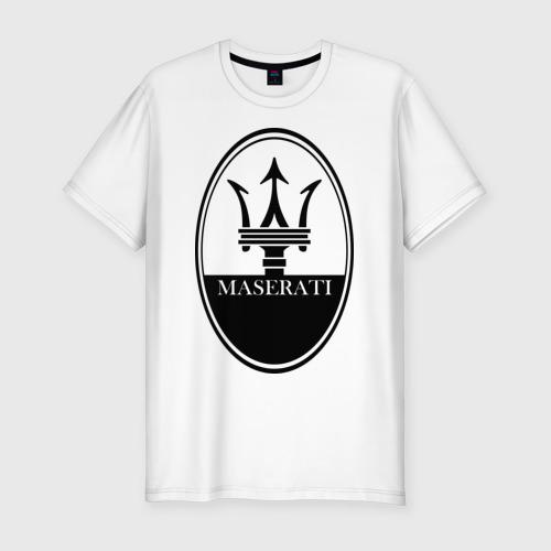 Мужская футболка хлопок Slim Maserati