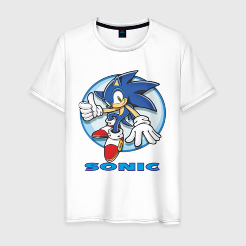 Мужская футболка хлопок Sonic