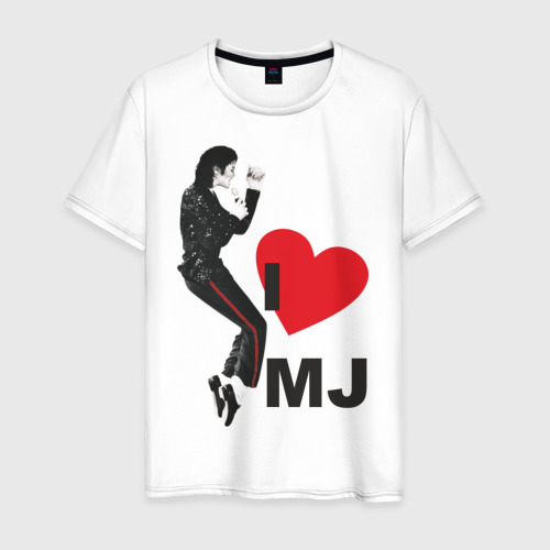 Мужская футболка хлопок I love Michael Jackson (1)