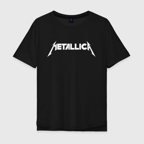 Мужская футболка хлопок Oversize Metallica