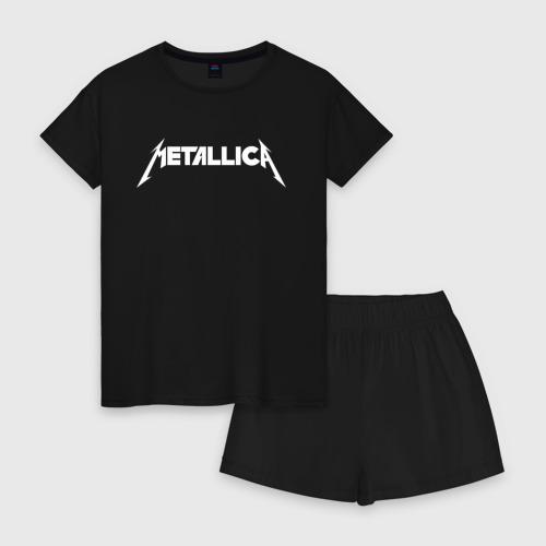 Женская пижама с шортиками хлопок Metallica