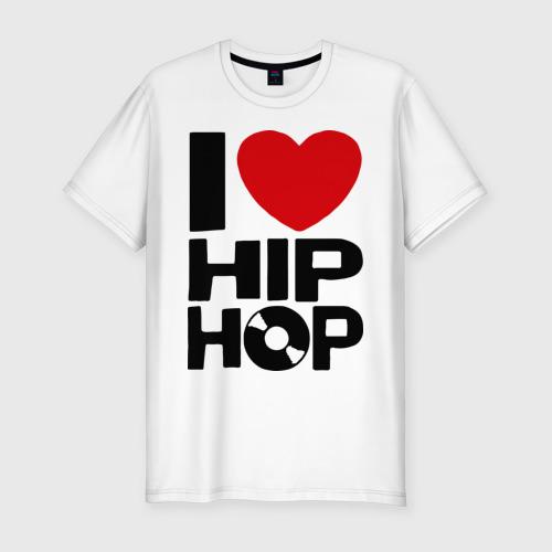 Мужская футболка хлопок Slim I love Hip Hop