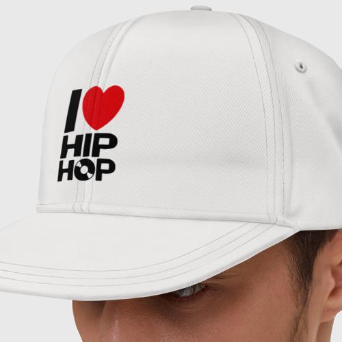Кепка снепбек с прямым козырьком I love Hip Hop
