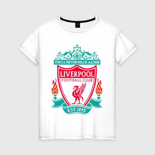 Женская футболка хлопок Liverpool