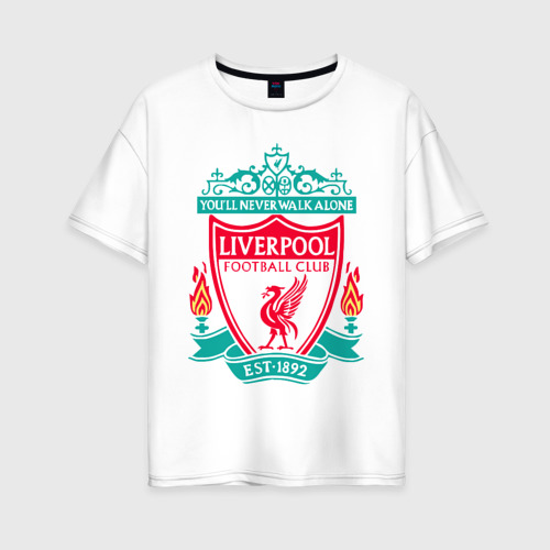 Женская футболка хлопок Oversize Liverpool