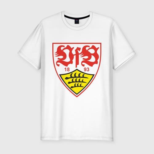 Мужская футболка хлопок Slim штутгарт