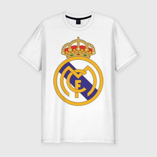 Мужская футболка хлопок Slim real_madrid