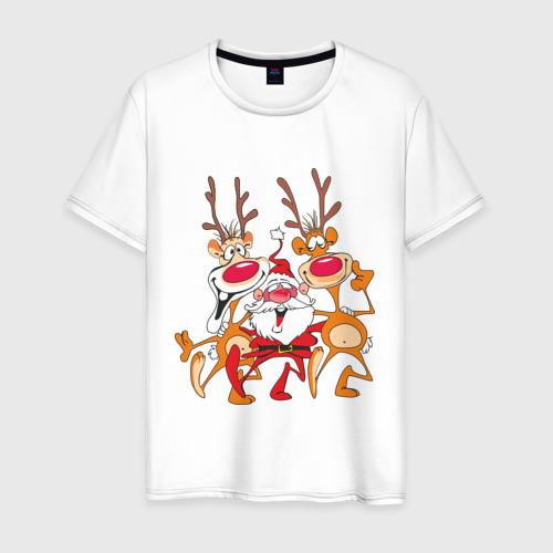 Мужская футболка хлопок Дед Мороз (8)