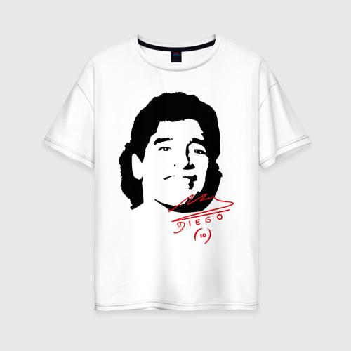 Женская футболка хлопок Oversize Diego Maradona