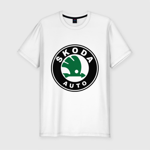 Мужская футболка хлопок Slim Skoda