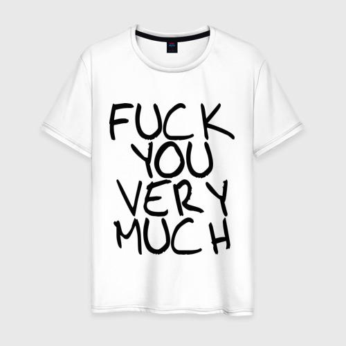 Мужская футболка хлопок Fuck you very much