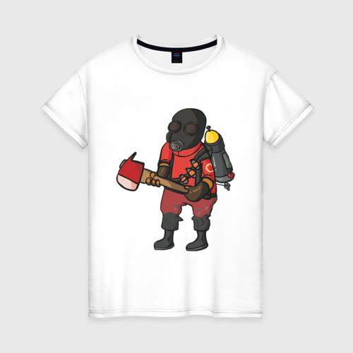 Женская футболка хлопок Pyro comics - TF2