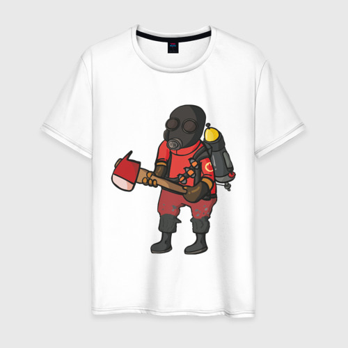 Мужская футболка хлопок Pyro comics - TF2