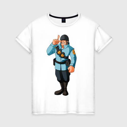 Женская футболка хлопок Soldier - TF2 (1)