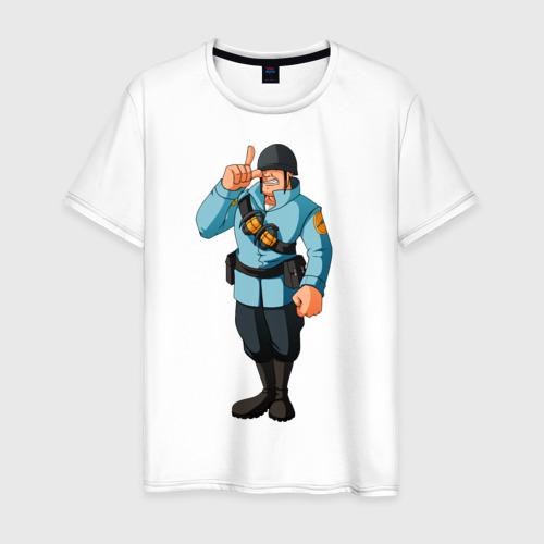 Мужская футболка хлопок Soldier - TF2 (1)