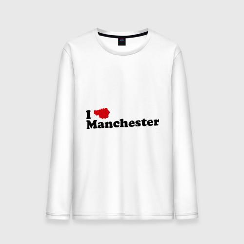 Мужской лонгслив хлопок Я люблю Манчестер Юнайтед