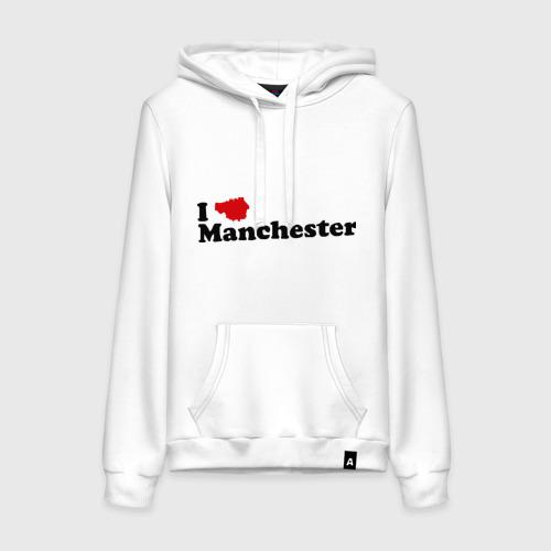 Женская толстовка хлопок Я люблю Манчестер Юнайтед