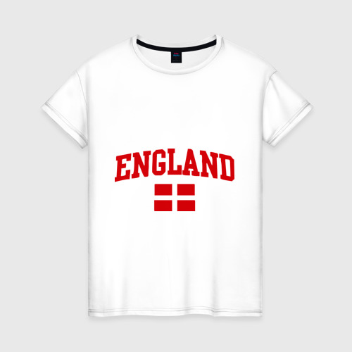 Женская футболка хлопок Болею за английский футбол