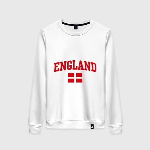 Женский свитшот хлопок Болею за английский футбол
