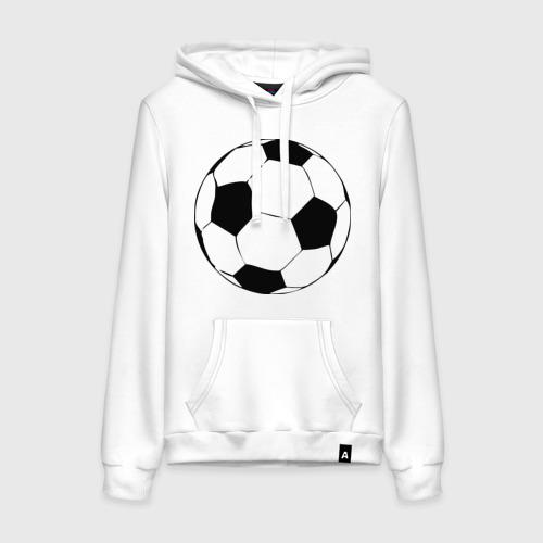 Женская толстовка хлопок Футбольный мяч