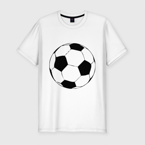 Мужская футболка хлопок Slim Футбольный мяч