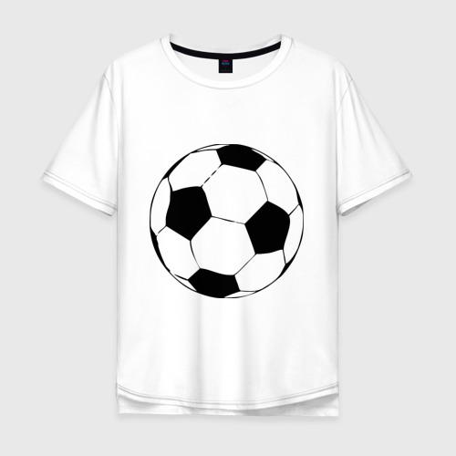 Мужская футболка хлопок Oversize Футбольный мяч