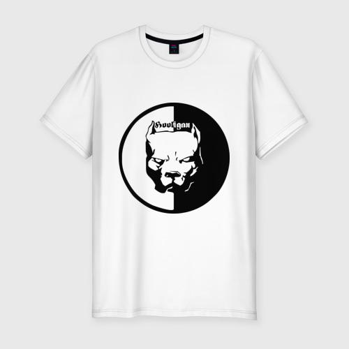 Мужская футболка хлопок Slim Хулиган