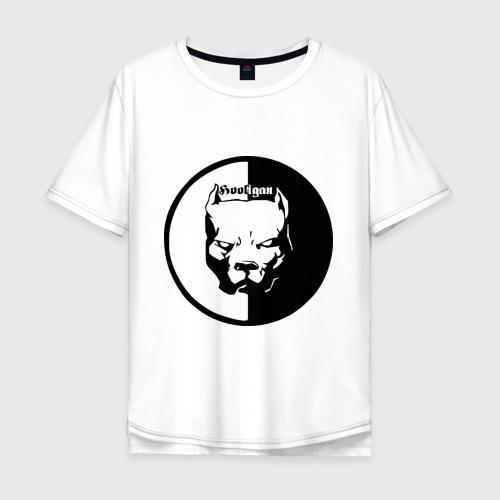 Мужская футболка хлопок Oversize Хулиган