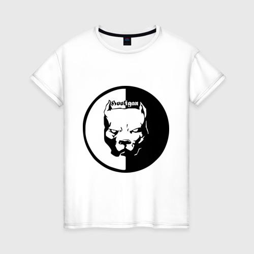 Женская футболка хлопок Хулиган