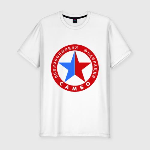 Мужская футболка хлопок Slim Федерация САМБО
