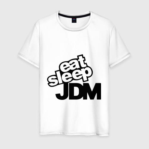 Мужская футболка хлопок Eat sleep jdm