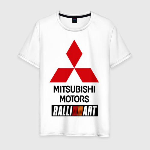 Мужская футболка хлопок Mitsubishi ralli art