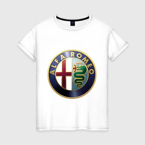 Женская футболка хлопок Альфа Ромео