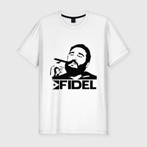 Мужская футболка хлопок Slim Фидель Кастро