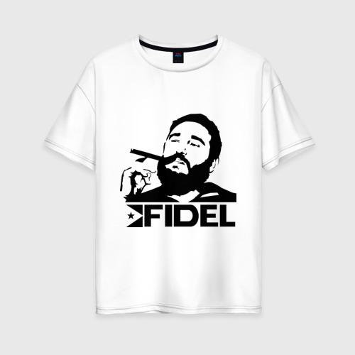 Женская футболка хлопок Oversize Фидель Кастро