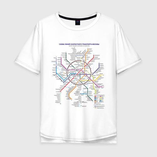 Мужская футболка хлопок Oversize Moscow metro
