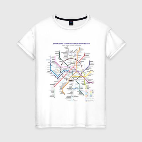 Женская футболка хлопок Moscow metro