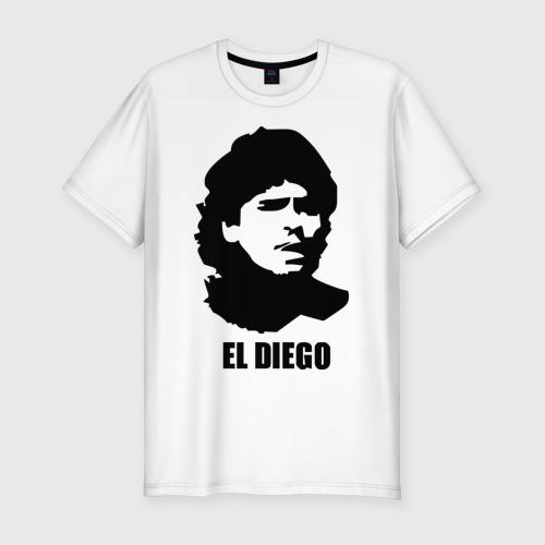 Мужская футболка хлопок Slim Диего Марадона