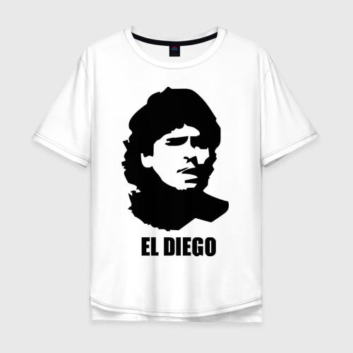Мужская футболка хлопок Oversize Диего Марадона