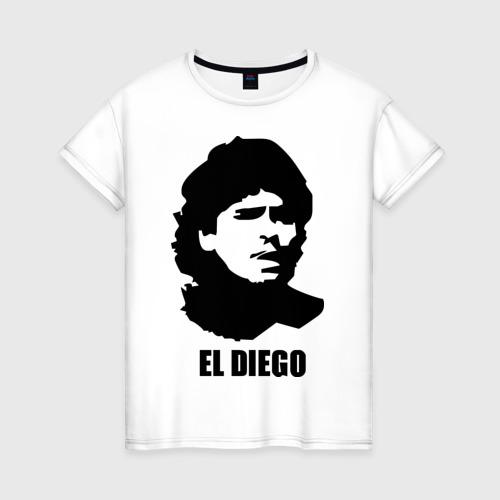 Женская футболка хлопок Диего Марадона